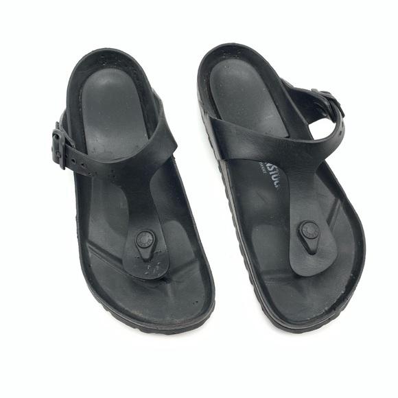 so cheap nice cheap no sale tax Birkenstock Shoes | Black Rubber Eva Gizeh Sandals | Poshmark